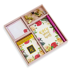 new products 2021 unique papeleria notepad cute stationery box Set school and office supplies