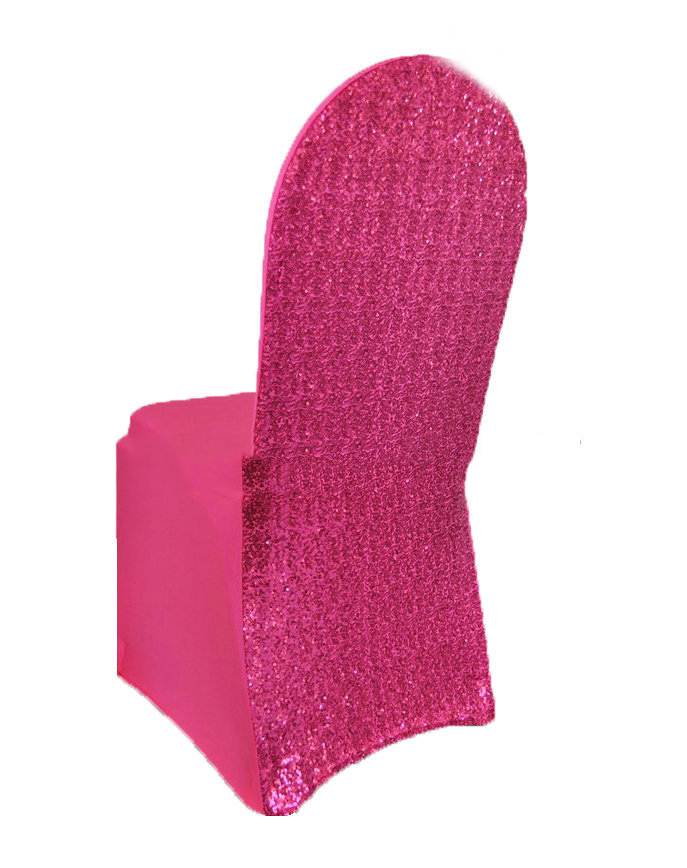 Свадебный Чехол для стула цвета шампанского из спандекса, эластичный блестящий чехол для стула из полиэстера