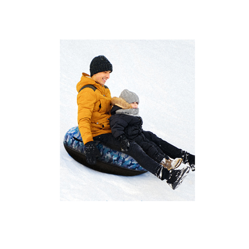 Best Quality 0.6mm Thicken Cold Resistant Sports Arctic Trails Snow Rider Inflatable Sled Inflate Sled Kids Youth Tube Snow Sled