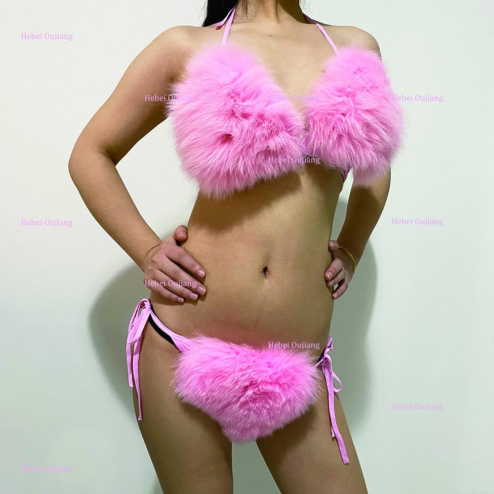 Furry in panties bra Stylish Cute Sexy Luxury Real Fox Fur Furry Women Sexy Bikini Bra Sets Buy Ladies Sexy Bra Sets Sexy Bra Panty Set Sexy Bra Knicker Sets Product On Alibaba Com