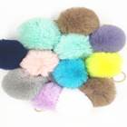 Rabbit Rabbit 2020 Hot Sale Wholesale Small Size 8cm Artificial Rabbit Fur Ball Colourful Pompom For Diy Hair Clip Dress Keychain Accessory