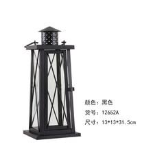 Скандинавский Железный художественный подсвечник стеклянный Свадебный ветряной фонарь для свечей металлический подсвечник с защитой от з...(Китай)
