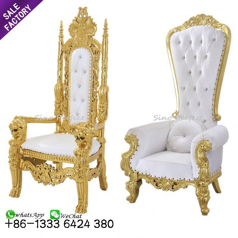 Лидер продаж, оптовая продажа, недорогой престольный стул с высокой спинкой, королева, король, для аренды, свадебной вечеринки