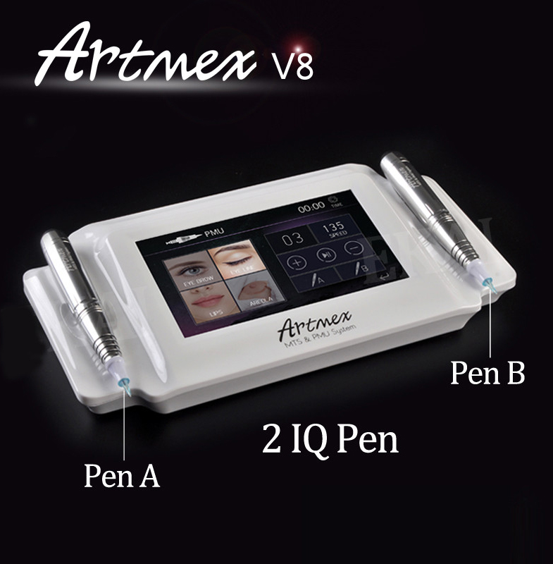 factory wholesale artmex V8 2 In 1 Pmu Mts Permanent Makeup Machine with skin care