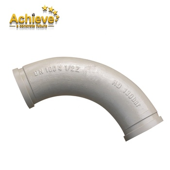 45 degree pipe bend wear resisting concrete pump twin wall elbow factory direct pipe putzmeister fitting elbow