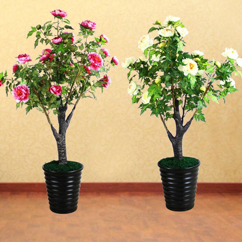 High Simulation Artificial Home Decorative Peony Bonsai Potted Tree Buy Home Artificial Bonsai Tree Artificial Potted Tree Artificial Decorative Bonsai Product On Alibaba Com