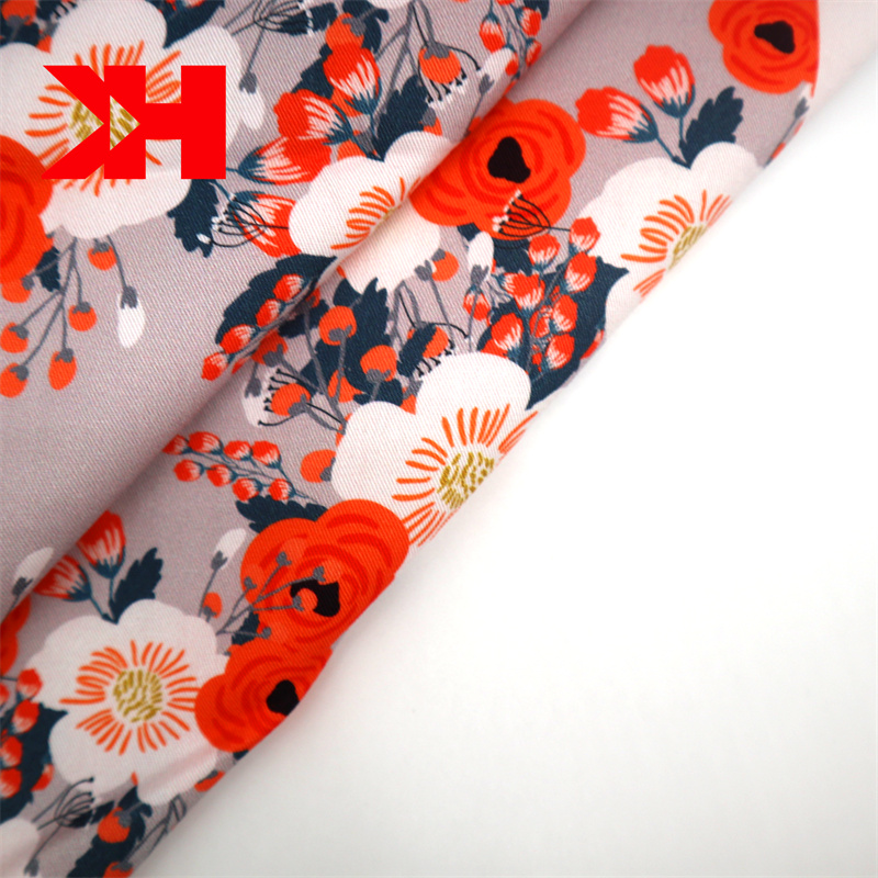 2020 new hot sale cheap spot stock 100% organic cotton voile printed fabric roll