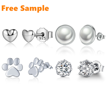 New arrival high quality fashion jewelry 925 sterling silver stud earrings for women