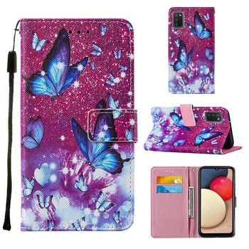 Fashion Printed Flower Butterfly Wallet Leather Case Cover For Samsung Galaxy S21 Plus S21 Ultra A02S A32 A42 5G A12 Cat Pouch