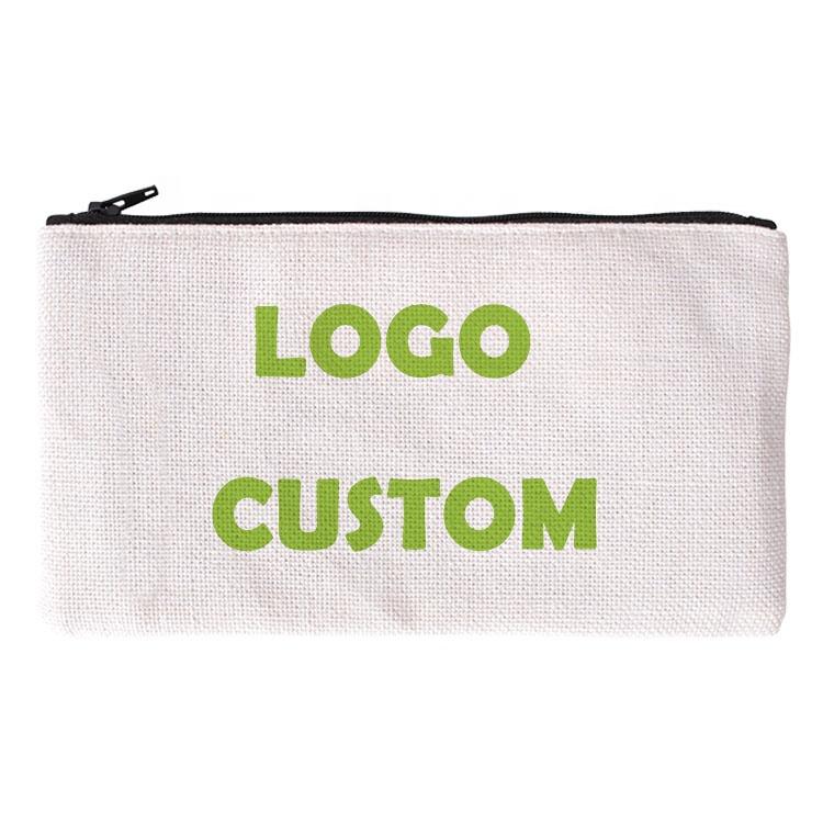 Custom Printed High Capacity Environmentally Friendly Durable Creative Cotton Linen Multifunctional Student Pencil Box