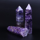 Amethyst Wholesale Natural Crystal Wand Amethyst Wand Point Quartz Crystal Tower For Healing
