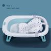 Mavi + bebek banyo yatak