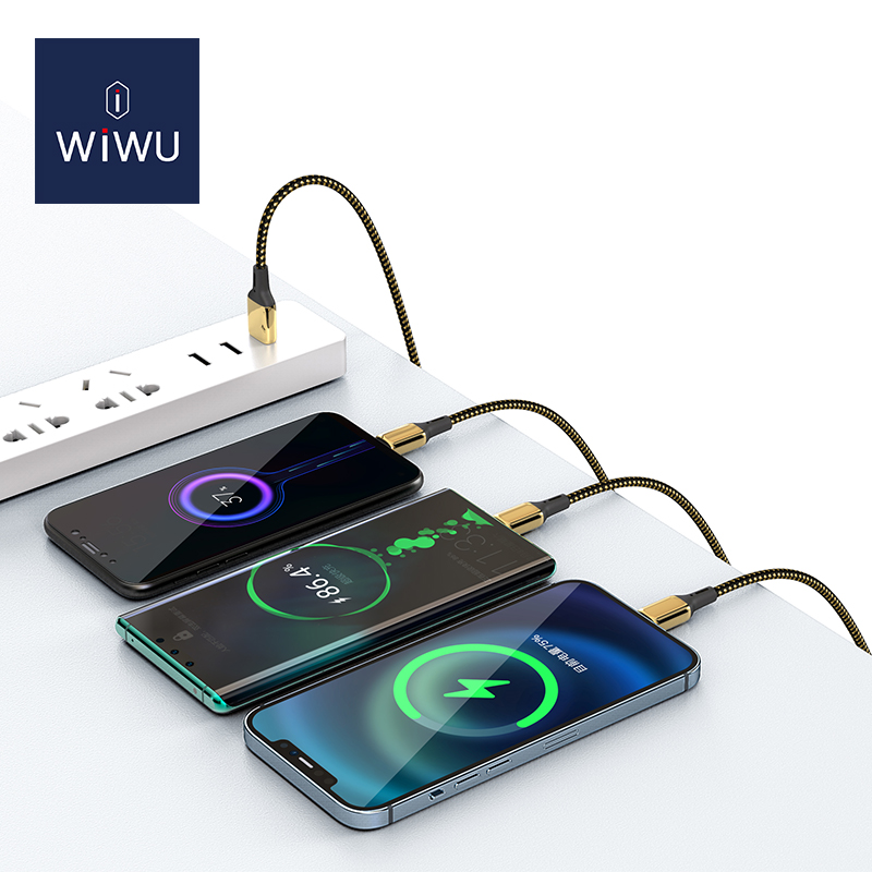 WIWU 土豪金数据线 一拖三
