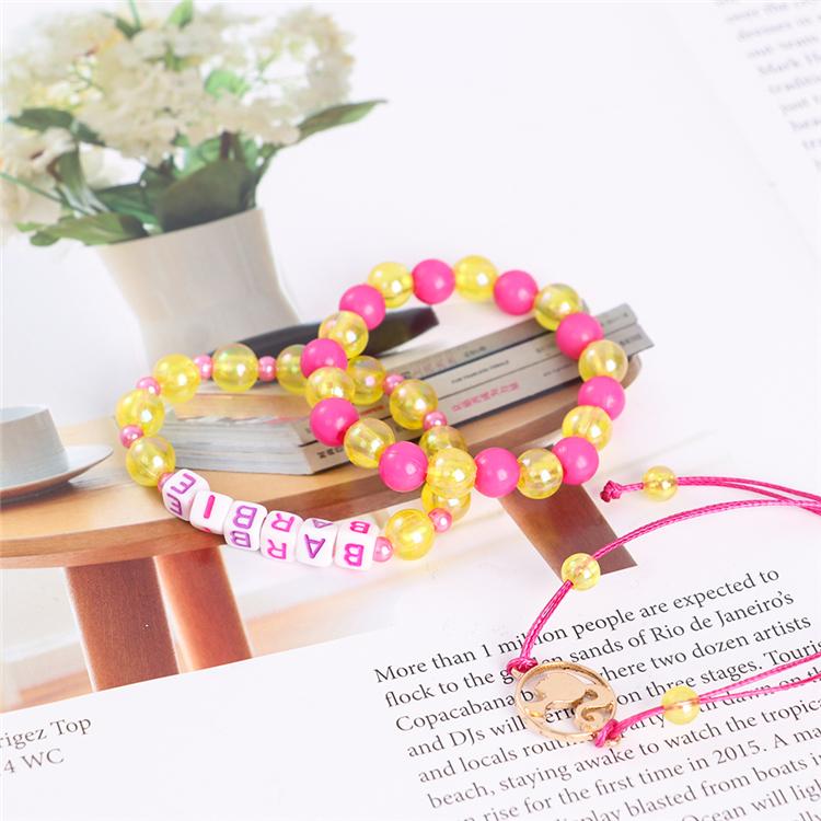 Yifan недорогой детский браслет принцессы с буквами жемчужинами круглые бусины модный красивый браслет набор