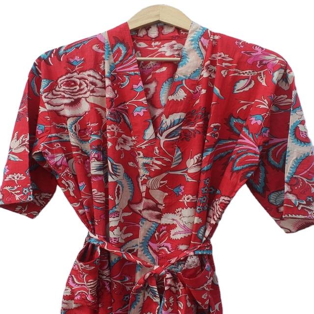 Vintage Ladies Cotton Robe  Vintage Cotton Dressing Gown