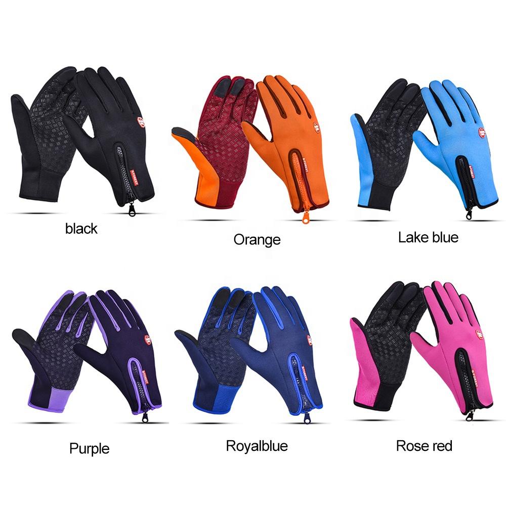 Ветрозащитные водонепроницаемые флисовые зимние теплые спортивные перчатки с пальцами для сенсорного экрана для улицы велосипедные перчатки спортивные перчатки