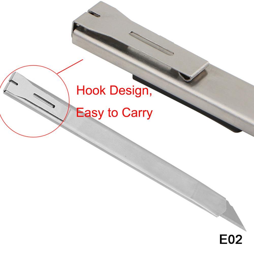E02 Высококачественный портативный нож из нержавеющей стали с лезвием 9 мм, Миниатюрный карманный нож