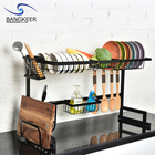 Drain Rack Kitchen Drain Rack Customizable Multi-Function Over The Sink Black Metal Iron Kitchen Drain Dish Rack