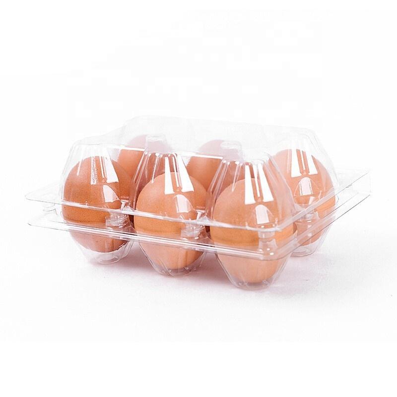 Полдюжины пластиковых коробок для яиц, 6 упаковок, коробочка для яиц, 2*3 = 6 ячеек, пластиковый лоток для яиц