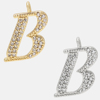 B - 18k gold or rhodium