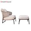 Gray sofa chair+foot stool