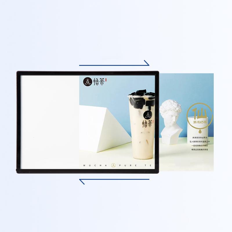 Светодиодный лайтбокс из алюминиевого сплава для рекламной рамки плаката, творческая работа A2 A3 A4