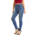 Faded dark blue super high rise female jeans trousers skinny pants for women