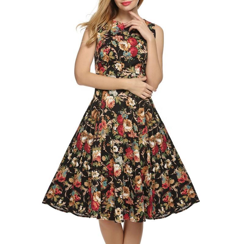 B12575A Сексуальное Женское винтажное платье ретро Винтаж качели рокабилли Pinup вечернее платье для выпускного вечера завернутое Цветочное платье