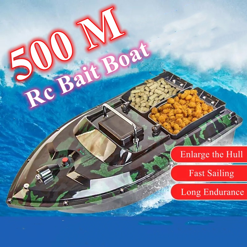 Factory Directly Sale 500 Meters Remote Control Camouflage Fishing Bait Boat