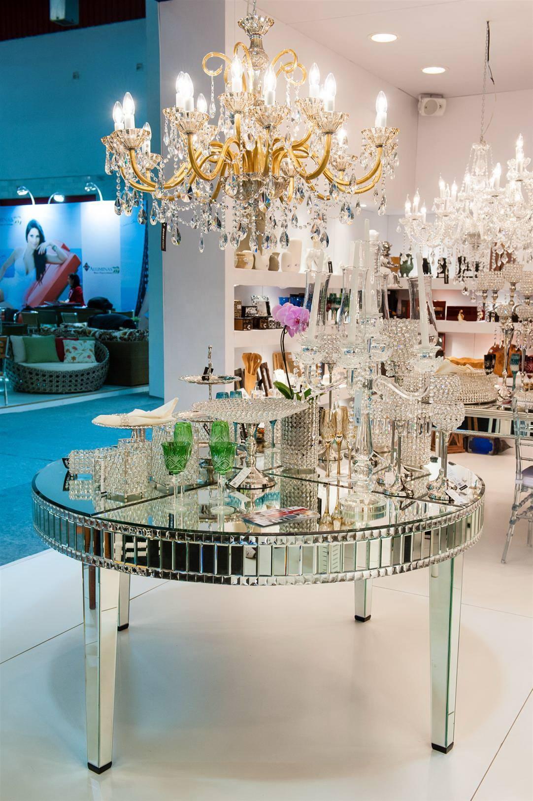 Современный Большой круглый зеркальный обеденный стол ручной работы, Лидер продаж