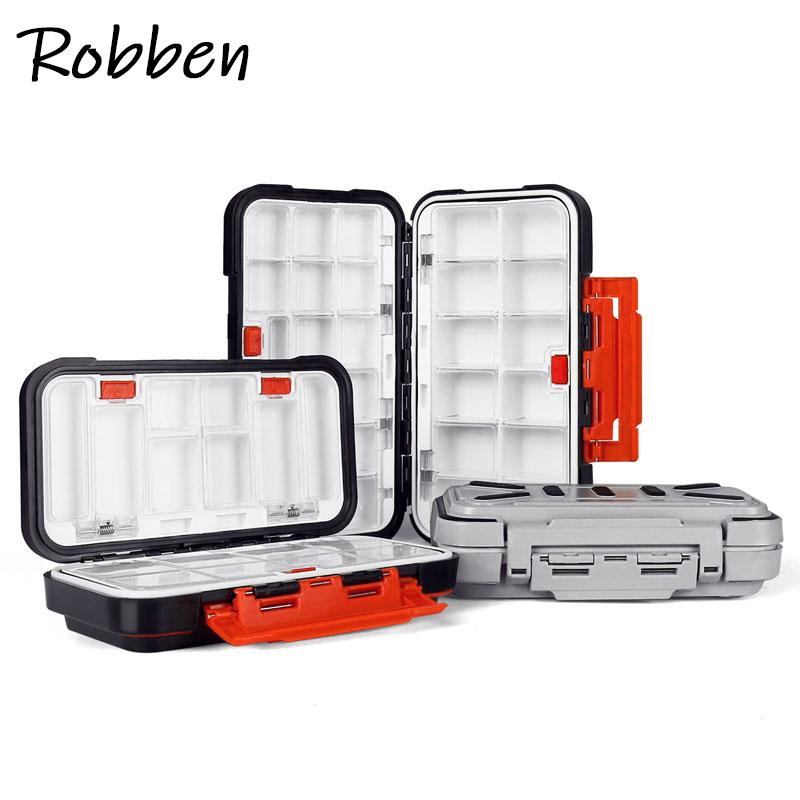 Robben Multifunction fishing box Waterproof ABS Portable fishing tackle box Hooks Minnows Tool Spinner fishing lure Box Storage