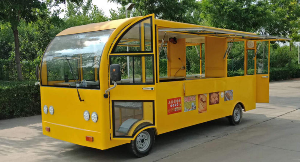 2020 hot selling large bus exhibition truck big mobile food truck food cart for vegetables, fruits, fast food, candy shops,