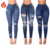 BH08 fashion clothing denim leggings trousers pants sexy mid rise fitted soft distressed ripped pantalones skinny jeans women