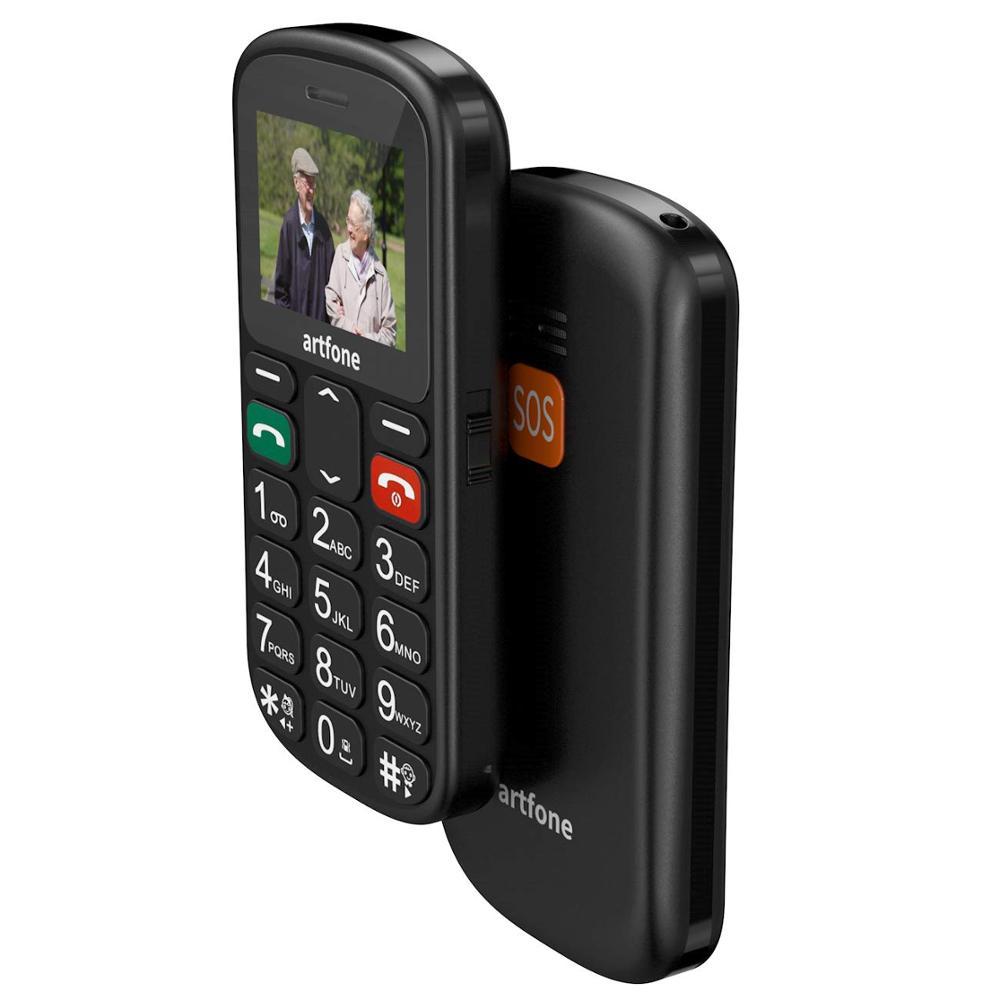 Unlocked GSM Mobile Phone, artfone CS181 Flash 32+24MB GSM Big Button Mobile Phone,Dual SIM Unlocked, Torch And Radio (Black)