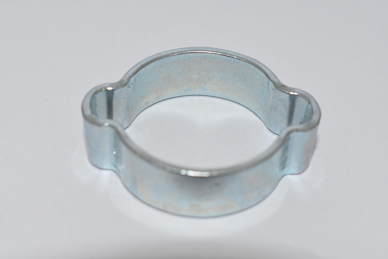 Galvanized steel double ears hose clamp