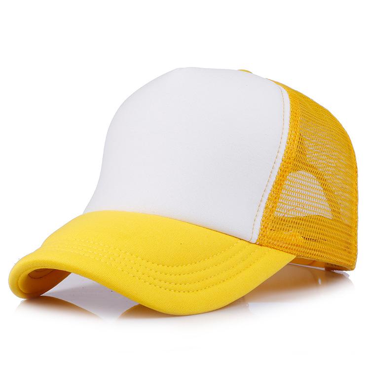 Customized logo wholesale adult trucker mesh hat digital printing 5 panel cap