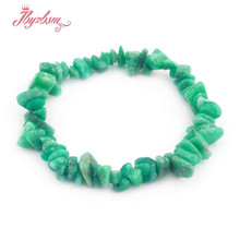3x5-5x8mm естественный неправильной формы кусочки гальки натуральный камень ручной работы эластичный браслет для женщин ювелирные изделия Рож...(Китай)