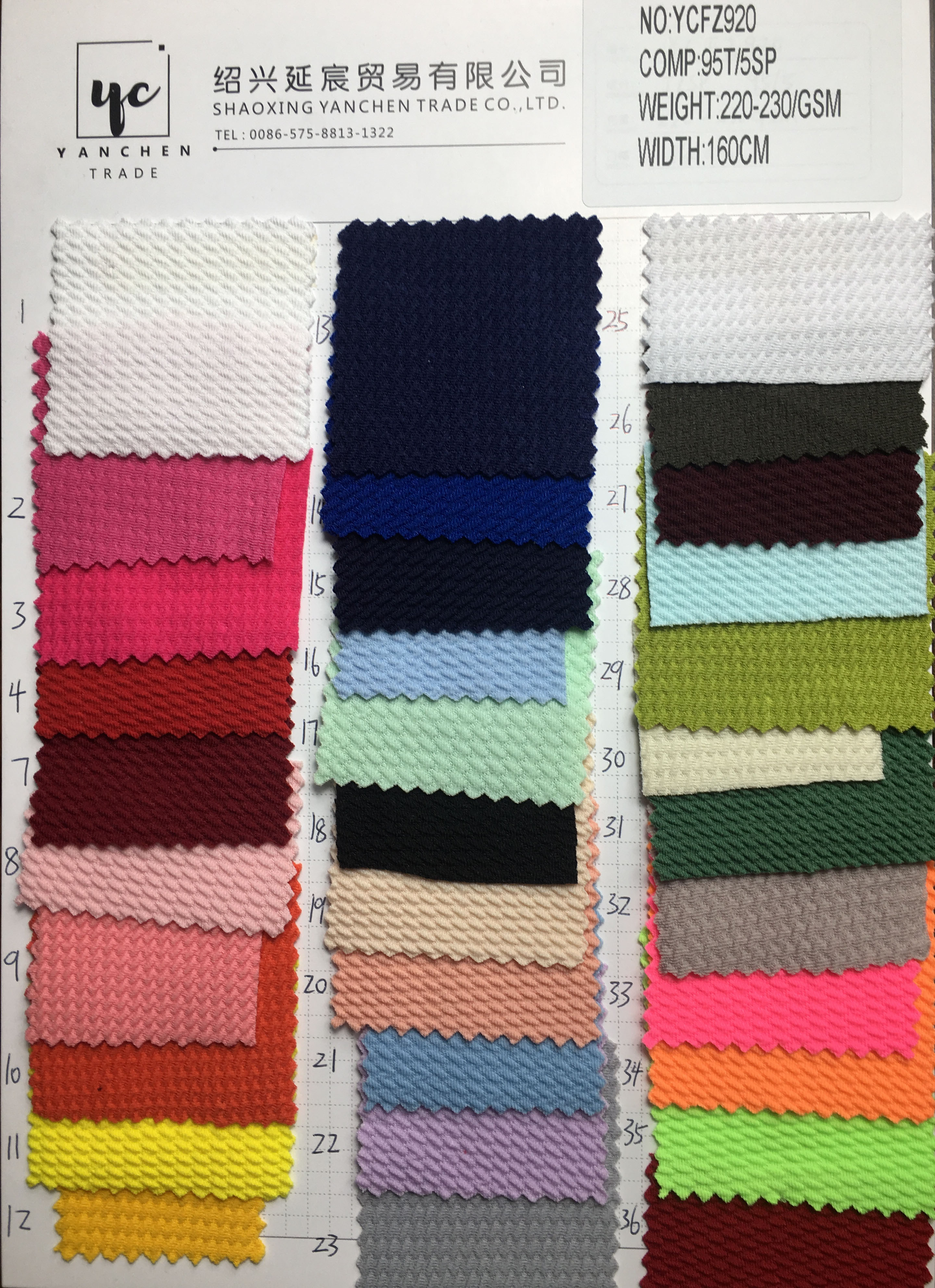 In stock bullet/liverpool texture fabric knit solid colors jacquard for baby headwrap & clothes