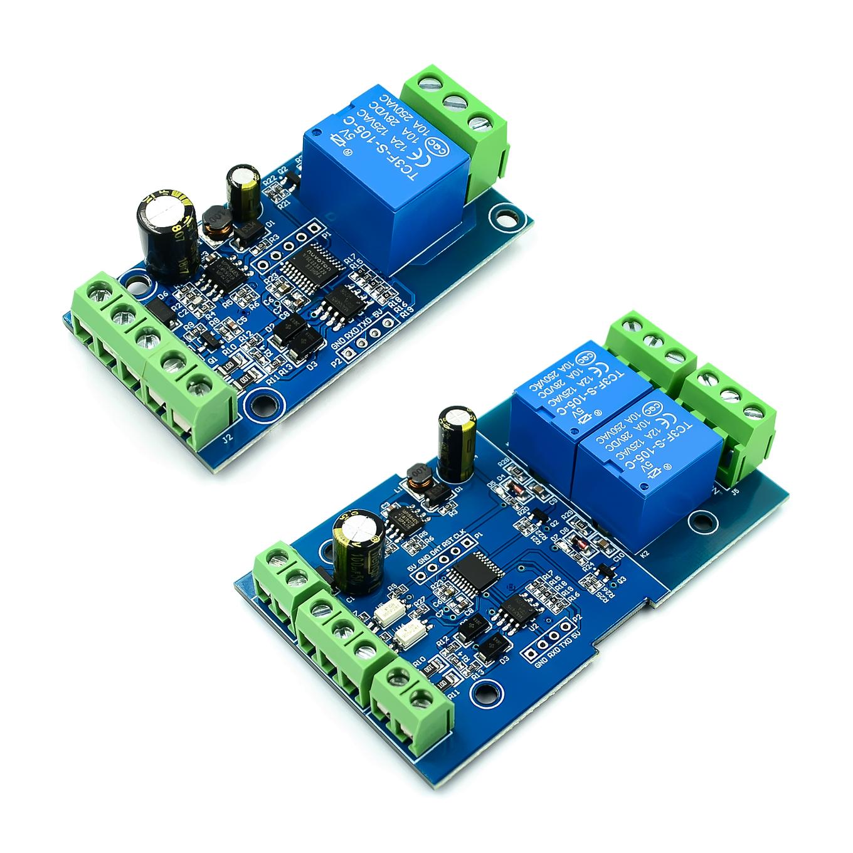 7V-24V Modbus-Rtu 1//2//4 Channel Relay Module Switch Modbus RTU Switch RS485 TTL