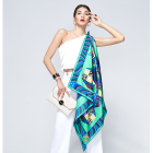 Women Custom Digital Printed Scarf Factory Manufacturing 100 Pure Silk Twill Satin Women Square Custom Digital Printed Silk Scarves
