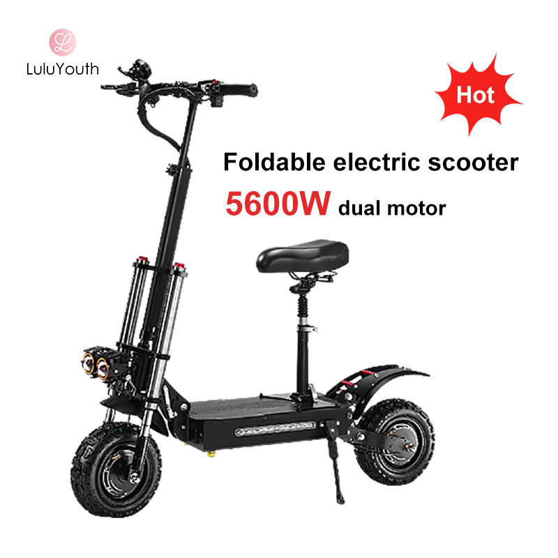 Powerful Adult Off Road Foldable 5400w 60V 28AH Dual Motor Electric Scooters For Sale