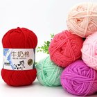 Yarn For Milk Cotton Yarn Free Samples Various Colors Soft Worsted Hand Knitting Baby Yarn 3ply 4ply 5ply 50g 100g Milk Cotton Yarn For Crochet
