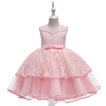 New Frock Designs Girls' Clothing 3-10Y Baby Kids Party Wear Baptism Puffy Girl Dress L5208
