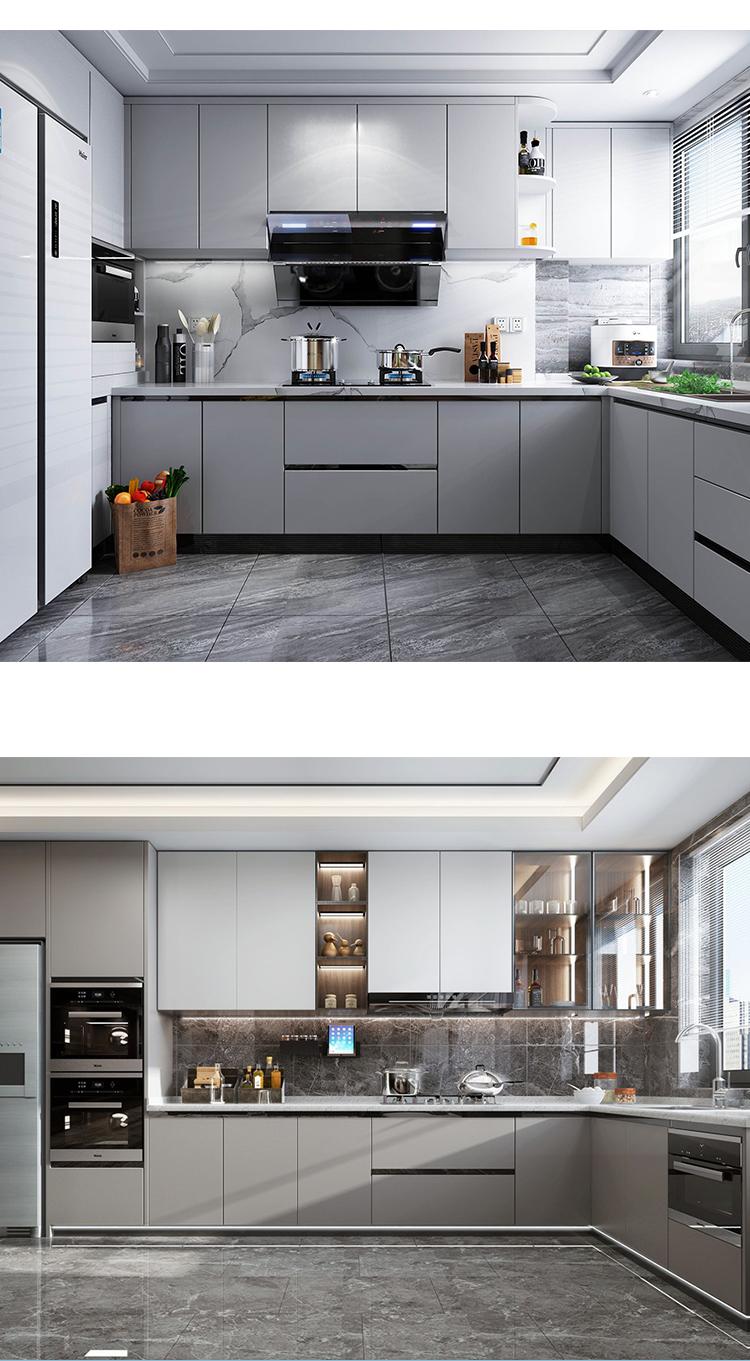 Factory Price Kitchen Unit Set Furniture Wooden Modern Kitchen ...