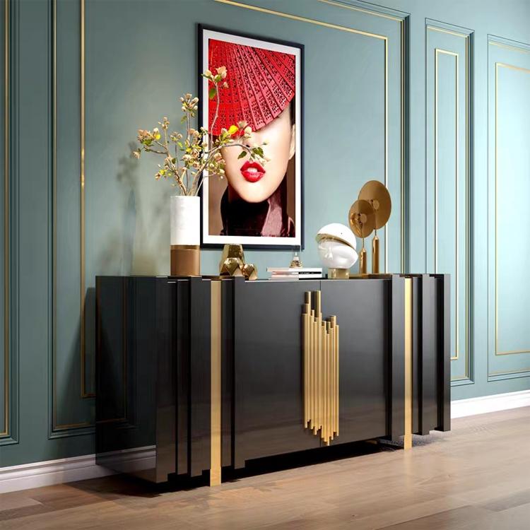 America wood sideboard luxury designer solid wooden sideboard cabinet