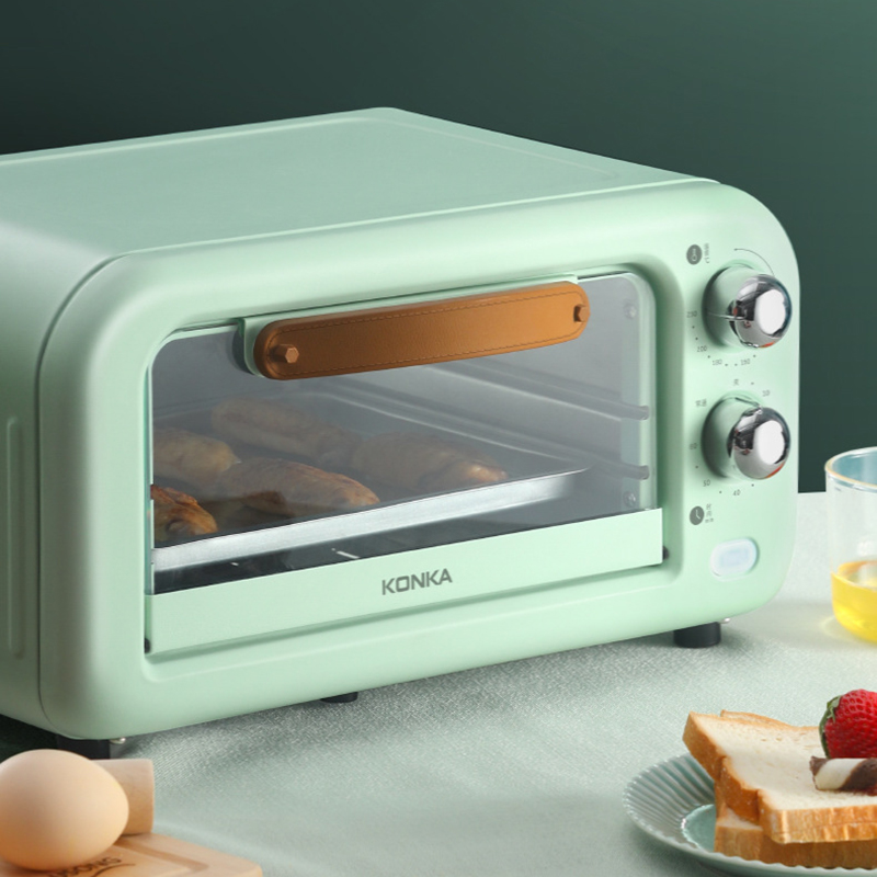 KONKA 12L Household Electric Oven Double Roasting Position Intelligent Baking Oven Transparent Mini Electric Oven