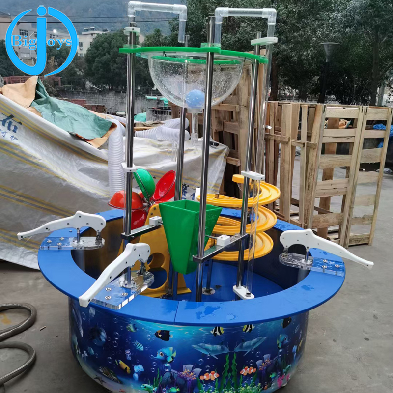 DIY assemble and establish globe water table play indoor playground equipment