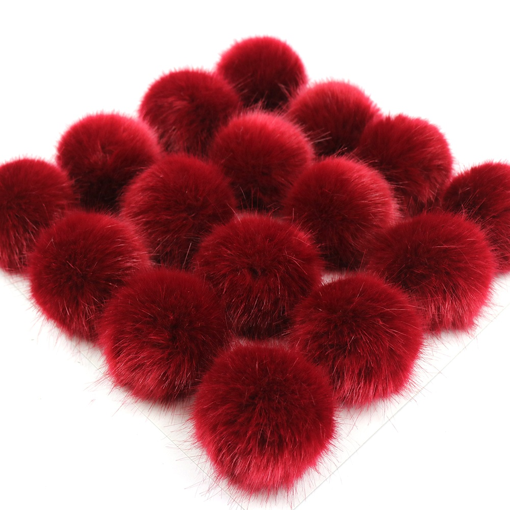 China factory Wholesale Colorful 3cm 3.5cm 4cm 5cm 6cm 7cm faux mink fur ball faux mink Pom Poms