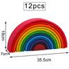 12 pcs bright rainbow