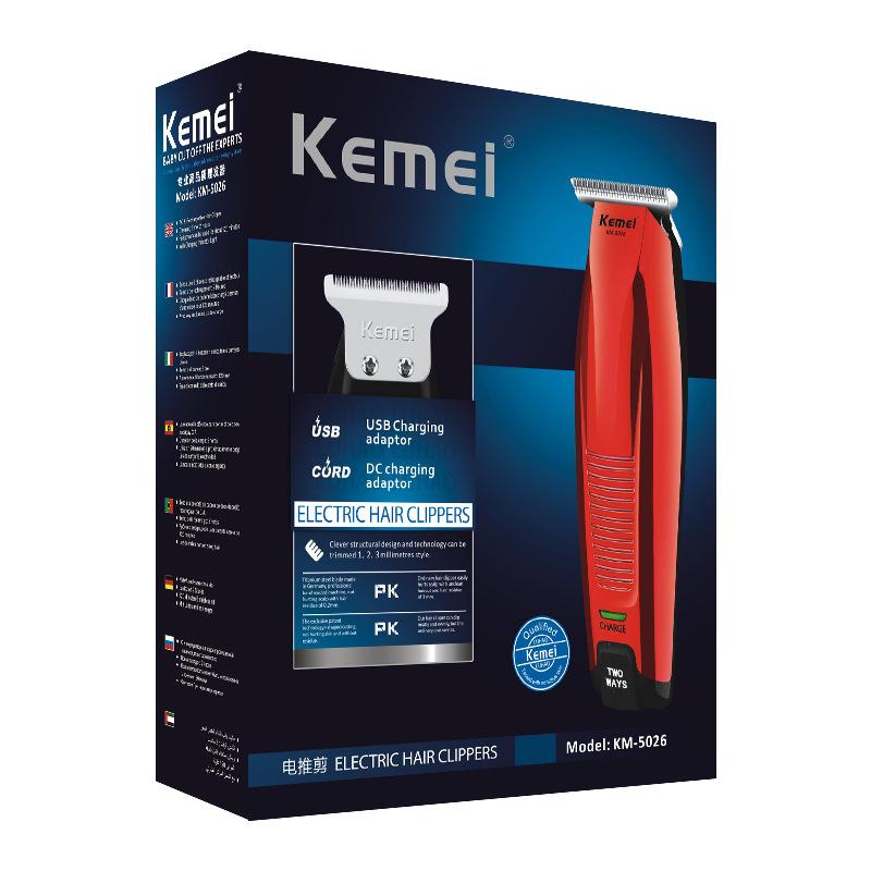 KM-5026 электрическая машинка для стрижки волос с литиевой батареей, обновленная роскошная версия, машинка для стрижки волос с масляной головкой и гравировкой, машинка для стрижки волос